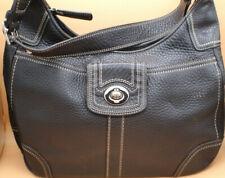 Coach Black Shoulder Bag Leather Hobo Vintage Retired Pattern
