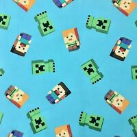 Minecraft Fabric FQ Fat quarter-100% Cotton-Quilting/Masks-FREE SHIPPING