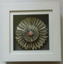 AMY DURY - MUSICAL FLOWER. ORIGINAL MIXED MEDIA. FRAMED.