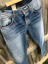 Mens NUDIE Dude Dan broken indigo Jeans - size W31 L30 regular straight fit BNWT