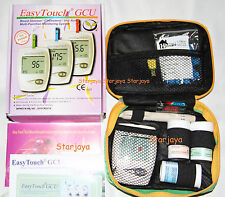 1x Easy Touch Blood Glucose Cholesterol Uric Acid Meter 3 in 1 Monitoring System
