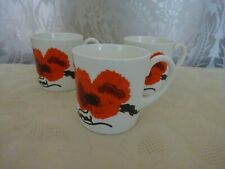 Wedgwood Susie Cooper Design Corn Poppy Set of 3 Cups only