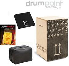 Schlagwerk Cajon 2inOne CP-404BLK + Bag + Pad + Lehrbuch / CD Bundle  TOPANGEBOT