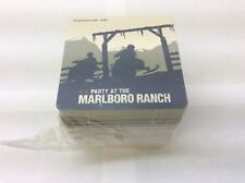 2002 Party At The Marlboro Ranch Drink Coasters Bar Pack Of 50 Mint