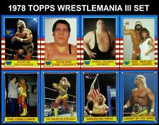 1987 Topps Wrestlemania III Complete Set of 75 Cards - WWF - Hogan, Ventura - NM