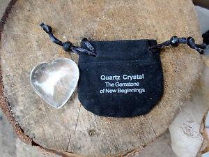 Clear Quartz Heart-Gem Quality-A Beauty! Wonderful Gift!
