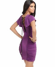 BABY PHAT LACE UP BACK CORSET RUCHED FLUTTER SLEEVE DRESS S SMALL    SFS