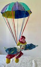 Paper Mache Clown with Parachute Excellent
