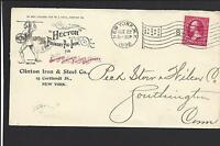 "NEW YORK, NEW YORK COVER,1896.  ""HECTOR FOUNDRY"" PIG IRON."