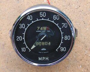 Classic British Jaeger Smiths Speedometer Speedo Rover 75 circa 1951