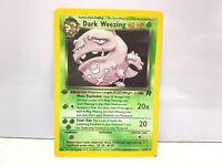 Pokemon Holo Foil 1st. Edition DARK WEEZING 14/82 Team Rocket Card