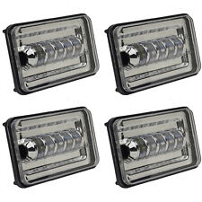 "4X6"" LED HID  Light Bulbs Crystal Clear Sealed Beam Headlamp Headlight Set"