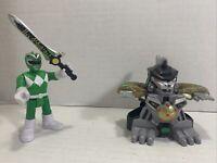 Imaginext Power Rangers GREEN RANGER figure with Battle Armor & Sword