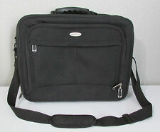 Samsonite Laptop Soft Shell Black Computer Briefcase Carry On Carrying Bag