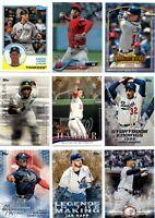 2018 Topps Update Inserts Gold SP Singles U Pick Card Build Set lot MLB RC Stars