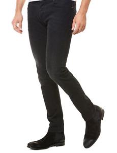 Diesel Sleenker Black Slim-Fit Skinny Jeans Mens 0674S