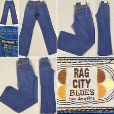 "Vintage Rag City Blues Los Angeles Jeans Size 30 9/10 26"" Waist Robin zipper"