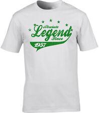 61st Cumpleaños t-shirt regalo ABSOLUTE Legend desde año de Choice 40 30 1957