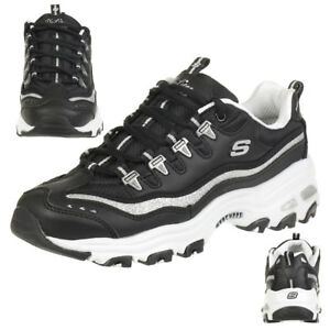 Skechers Sport D'Lites-Now & Then Damen Sneaker, Schwarz
