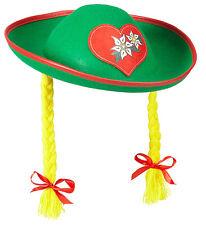 Bayrischer Hut mit Zöpfen NEU - Karneval Fasching Hut Mütze Kopfbedeckung