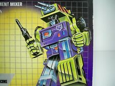 K1900503 MIXMASTER MOC MINT ON SEALED CARD G1 TRANSFORMERS 1984 CONSTRUCTICON