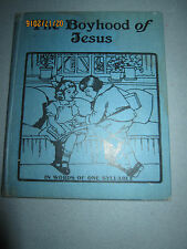 Vtg children's book The Boyhood of Jesus, Saalfield Publishing Co 1920s, Pollard