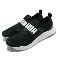 Puma Wired SlipOn Black White Men Slip On Running Casual Shoes Sneaker 371127-01