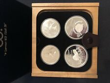 Silver Coin Montreal Summer Olympics 1976 - 4 Set Canada