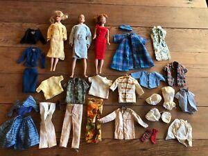 Vintage LOT BARBIE Doll marked 1958 KEN 1960 MIDGE 1962 or 1982 LOT w/ Clothes