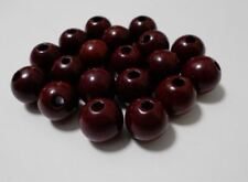 80pcs 18mm WOODEN Large Round Spacer Beads  MAROON A52