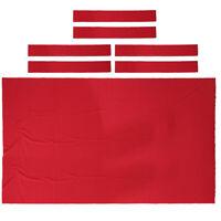 High Performance Pool Table Felt Billiard Cloth Table Bed Cushion 8ft Red