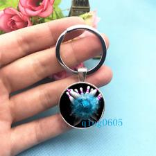 Bowling Art Photo Tibet Silver Keychains Rings Glass Cabochon Key chain -58