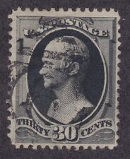 US 190 Used 1881 30¢ Full Black Alexander Hamilton Issue VF