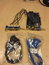 Geovision GV148016 PCI-E 16 Ch DVR VGA Capture Card INC CABLES & 2-PORT CARD