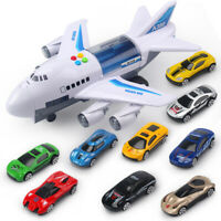 Kids Toys Simulation Track Inertia Airplane Music Stroy Light Plane Diecasts Toy