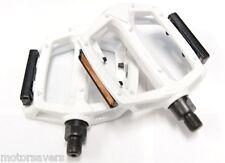 WHITE WELLGO metallo BMX/Pedali ATB/Fixie - 9/16 (3 pezzo manovella)