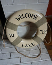Welcome To The Lake Life Saver Preserver Ring Lodge Cabin Home Decor Sign New
