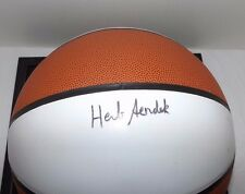 THE ROCK Basketball SIGNED by Coach HERB SENDEK in Display Case (NC State)