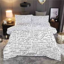 Gray Letter Mouse 3D Printing Duvet Quilt Doona Covers Pillow Case Bedding Sets