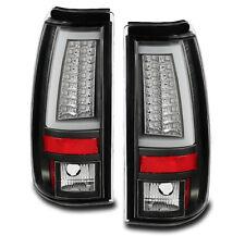 CHEVY/GMC 2003-2006 SILVERADO SIERRA REAR LED BAR TUBE TAIL LIGHT LAMP BLACK SET