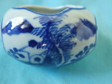 Vintage Chinese porcelain bird seed/water cup, unusual shape