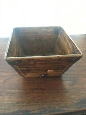Chinese Antique Wooden Small Rice Measure ( Dou )