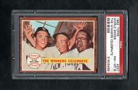 1962 TOPPS #237 WORLD SERIES THE WINNERS CELEBRATE PSA 8 NM/MT++SHARP CARD