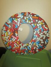 """Giant Chocolate Donut With Sprinkles Costume Face Mask 20"""" Funny! Nwt"""