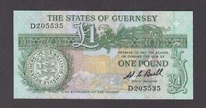 Guernsey P.48-5535, 1 Pound Sig. Bull PFX D, UNC, We Combine