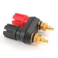 2X(SODIAL(R) Dual Female Banana Plug Terminal Binding Post for Speaker Amp E5N2)