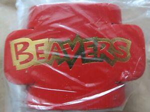 Beaver Embossed Leather Woggles - red