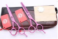 Rosa japonés de corte y profesional de peluquería adelgazamiento tijeras Set 5.5 in (approx. 13.97 cm)
