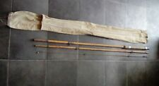 Antique  Cane Bamboo Fishing Rod 3 Pieces with original sleeve cover
