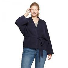 NWT Ava & Viv Women's Plus Size Wrap Cardigan Sweater with Belt